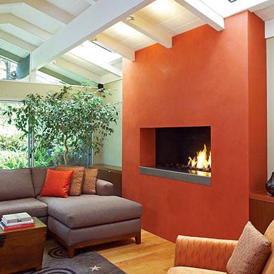 dossier teinte corail photos d 39 int rieurs r alis s avec la peinture la chaux couleur corail. Black Bedroom Furniture Sets. Home Design Ideas