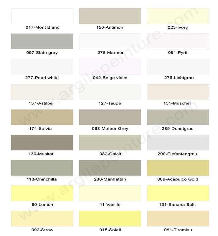 Couleurs Peinture Argile Et Laque Satinée, 165 Teintes 100