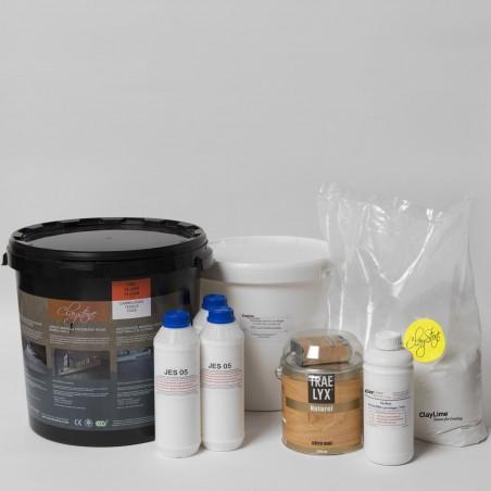 Kit Claystone béton ciré argile - Sol, Plan de travail en CARRELAGE