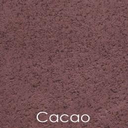 Enduit fin à l'argile, teinte cacao