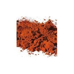 Pigment minéral, teinte: Ocre rouge foncé